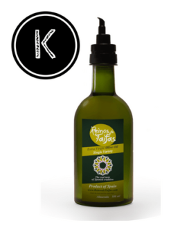 Koroneiki 'Single Variety' extra virgin olive oil - Almarada 500ml bottle of Green Gold by Reinos de Taifas