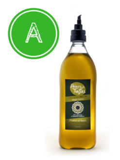 Arbequino 'Single Variety' extra virgin olive oil - Falcata 1000ml bottle of Green Gold by Reinos de Taifas