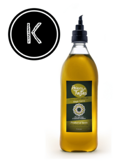 Koroneiki 'Single Variety' extra virgin olive oil - Falcata 1000ml bottle of Green Gold by Reinos de Taifas