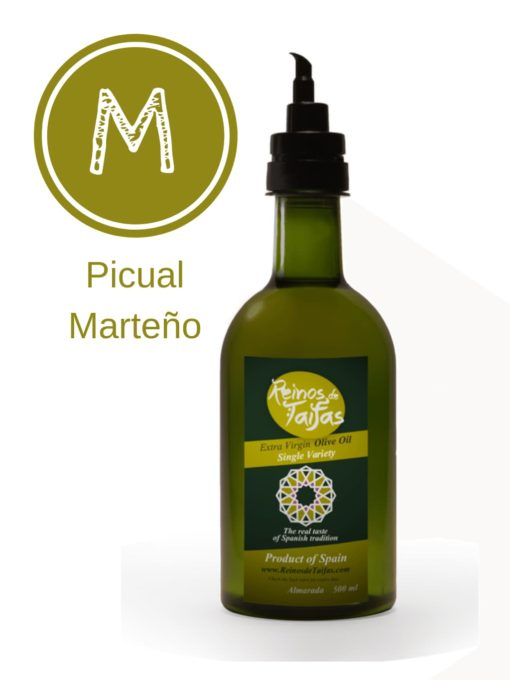 Picual 'Single Variety' Extra Virgin Olive Oil - Almarada 500ml bottle of Green Gold by Reinos de Taifas