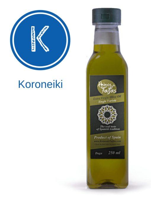 Koroneiki 'Single Variety' extra virgin olive oil - Daga 250ml bottle of Green Gold by Reinos de Taifas