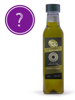 Random 'Single Variety' extra virgin olive oil - Daga 250ml bottle of Green Gold by Reinos de Taifas