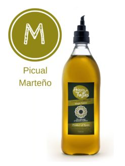 Picual 'Single Variety' extra virgin olive oil - Falcata 1000ml bottle of Green Gold by Reinos de Taifas