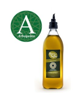 Arbequina Single Variety extra virgin olive oil - Almarada 1000ml bottle of Green Gold by Reinos de Taifas
