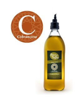 Cobrançosa Single Variety extra virgin olive oil - Almarada 1000ml bottle of Green Gold by Reinos de Taifas