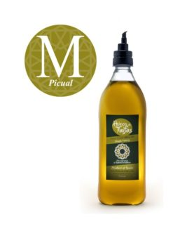 Picudo Single Variety extra virgin olive oil - Almarada 1000ml bottle of Green Gold by Reinos de Taifas